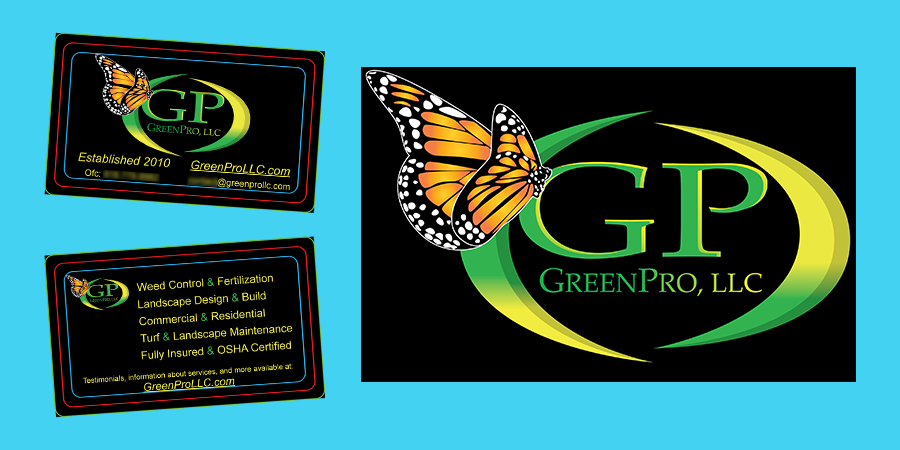 GreenPro Old Logo and Business Cards Project