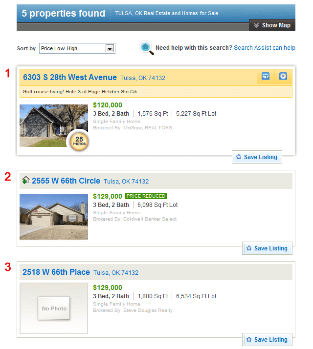 REALTOR.com Comparisons 1