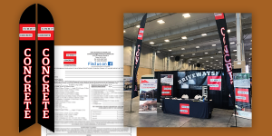 Summit Concrete - trade show, contract design
