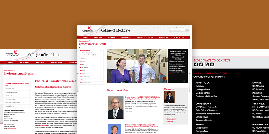University of Cincinnati Department of Environmental Health PageLines Website Project